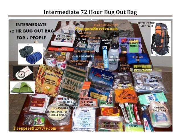 Bug Out Bag Printable Checklist