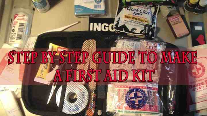 Step by step guide to make a first aid kit