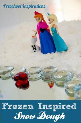 Frozen Small World in Snow Dough Sensory Play