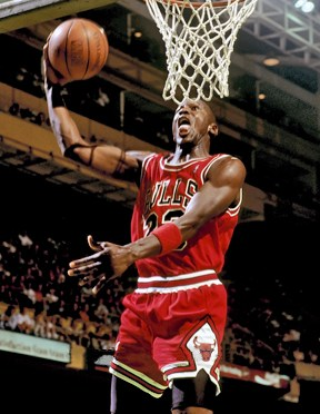 Michael Jordan at Boston Garden