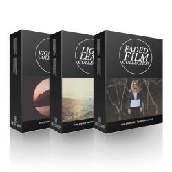 faded film light leaks vignettes collection box Faded Film + Light Leak + Vignette Presets
