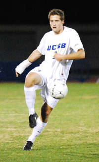 Senior David Walker scored in his third straight NCAA playoff game at UCLA's Drake Stadium on Sunday. (Photos by John Dvorak/PresidioSports.com)
