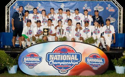 Ybarra helped coach a Santa Barbara Soccer Club team to a National Championship in South Carolina last year.