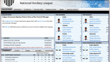 The league home screen gives you a comprehensive rundown of team news, league standings and player stats.