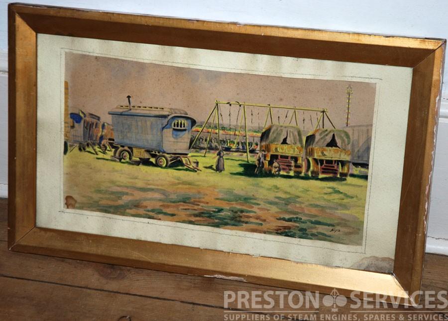 FAIRGROUND SCENE Framed Painting