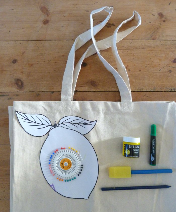 tote bag citron diy