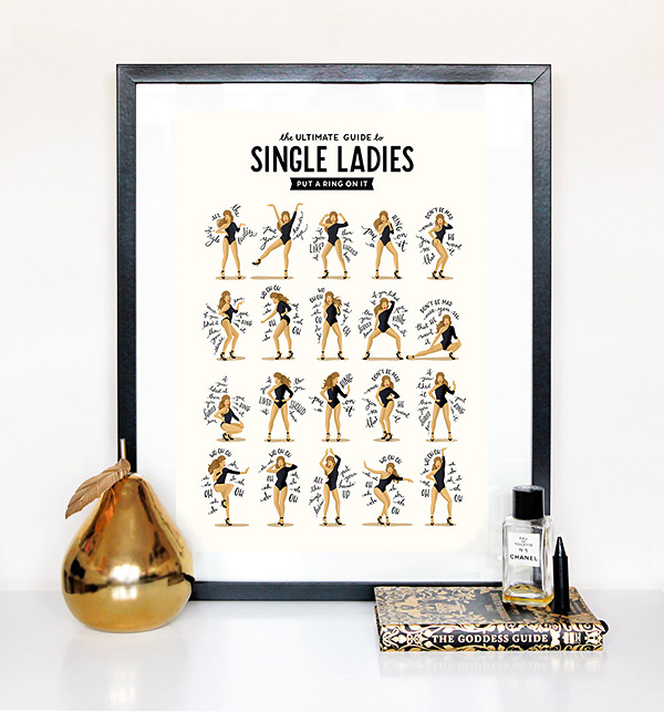 Single Ladies poster by Draw Me a Song