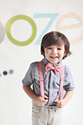Matching Striped Suspenders and Bow Tie from MaggieBogart