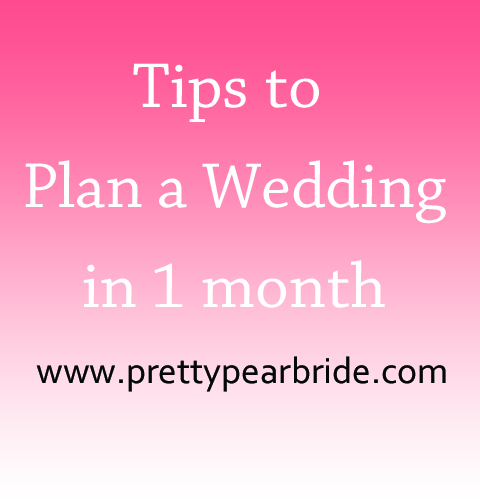 {Wedding Tip Thursday} Planning a Whirlwind Wedding in One Month