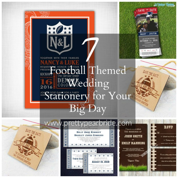 WEDDING TIP THURSDAY | Touchdown! 7 Football Themed Wedding Stationery for Your Big Day | Pretty Pear Bride