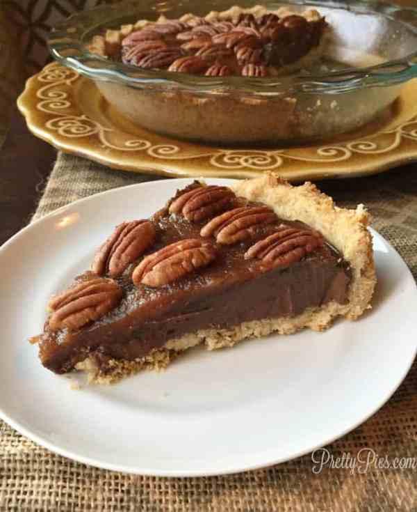 Chocolate Turtle Pie PrettyPies.com
