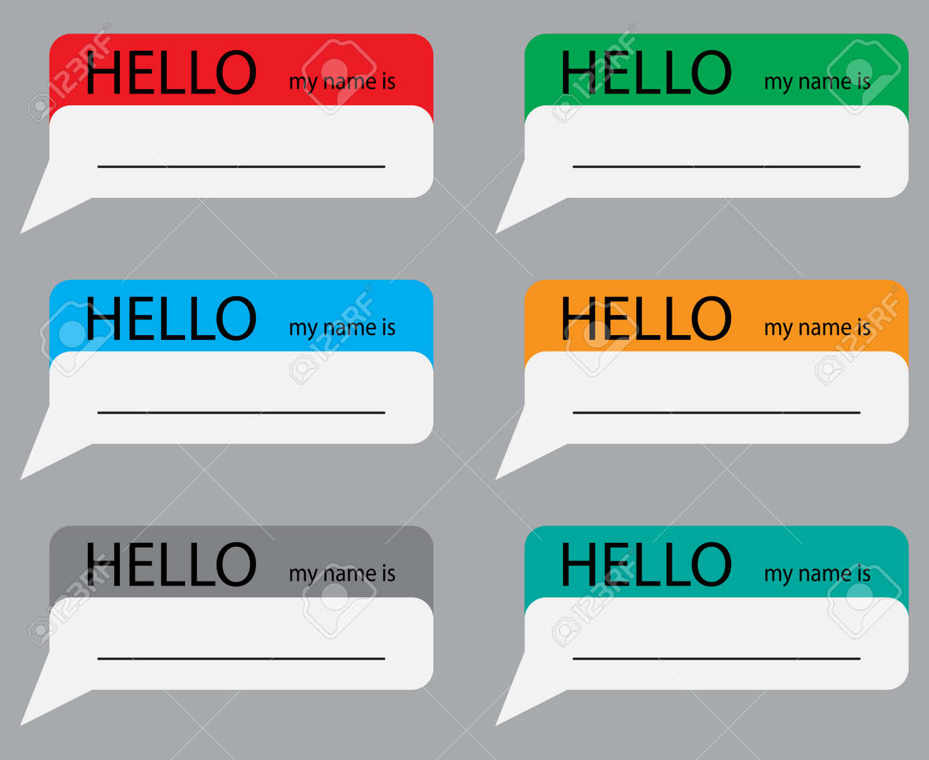 Fullsize Of Hello My Name Is Tag