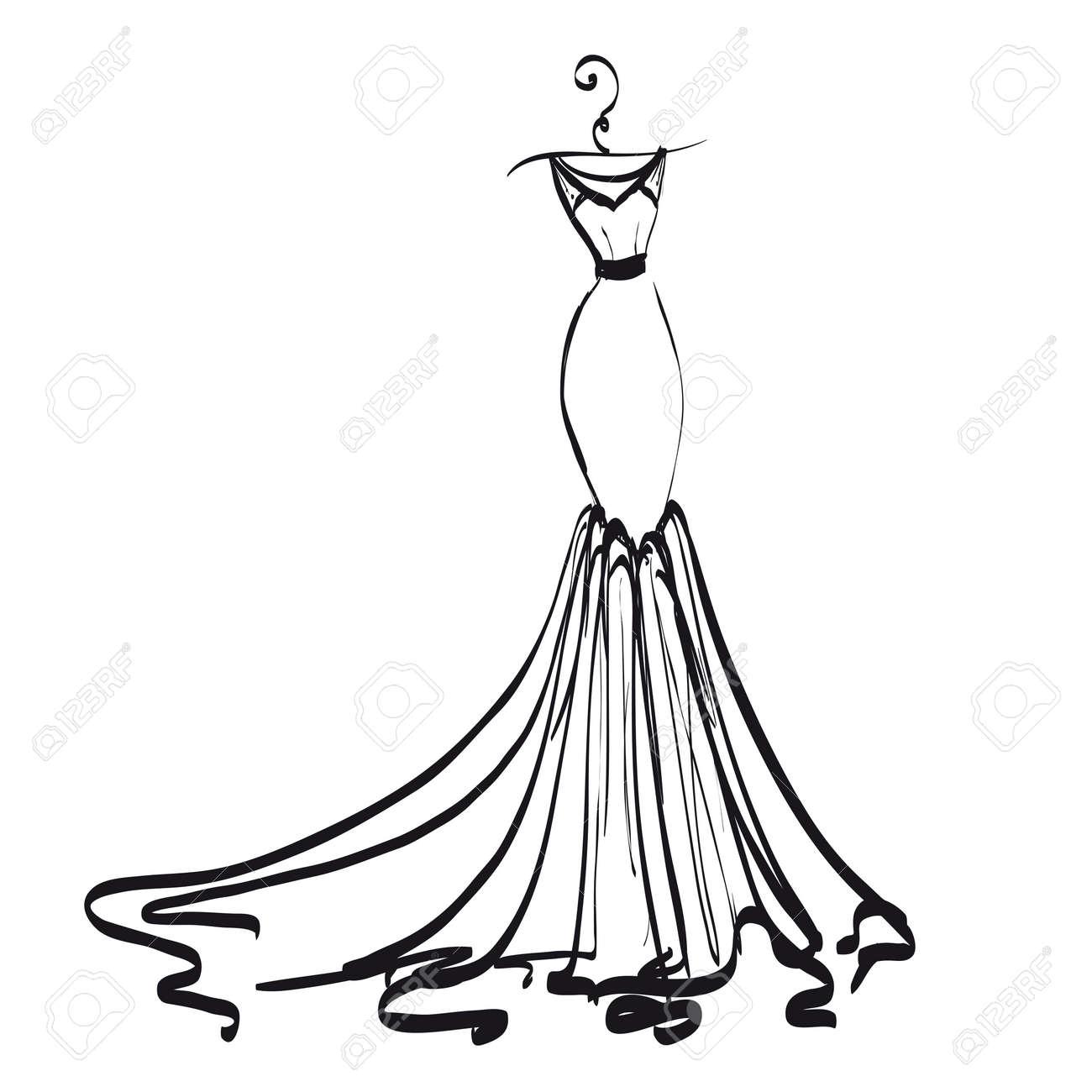 Fullsize Of Wedding Dress Clipart