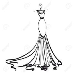 Small Of Wedding Dress Clipart