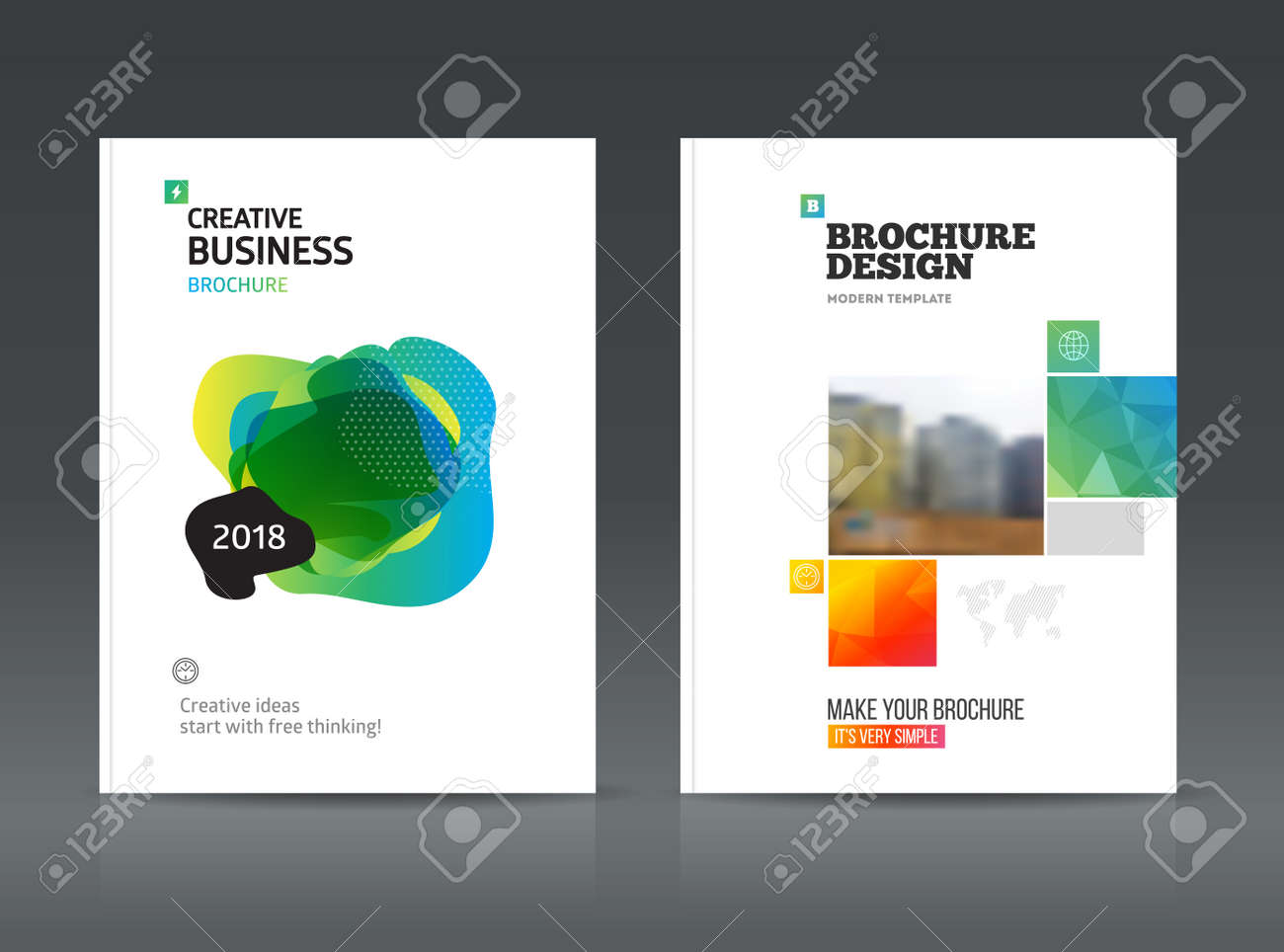 Abstract Business Brochure Design Vector Template In A4 Size     Abstract business Brochure design vector template in A4 size  For document  or book cover