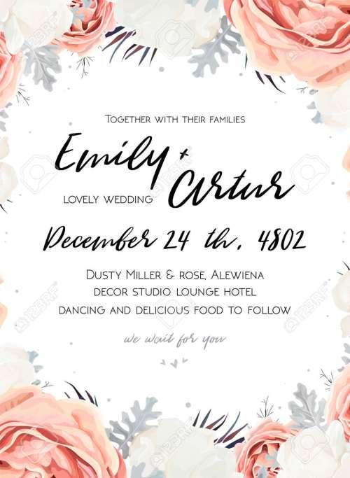Medium Of Wedding Invitation Templates