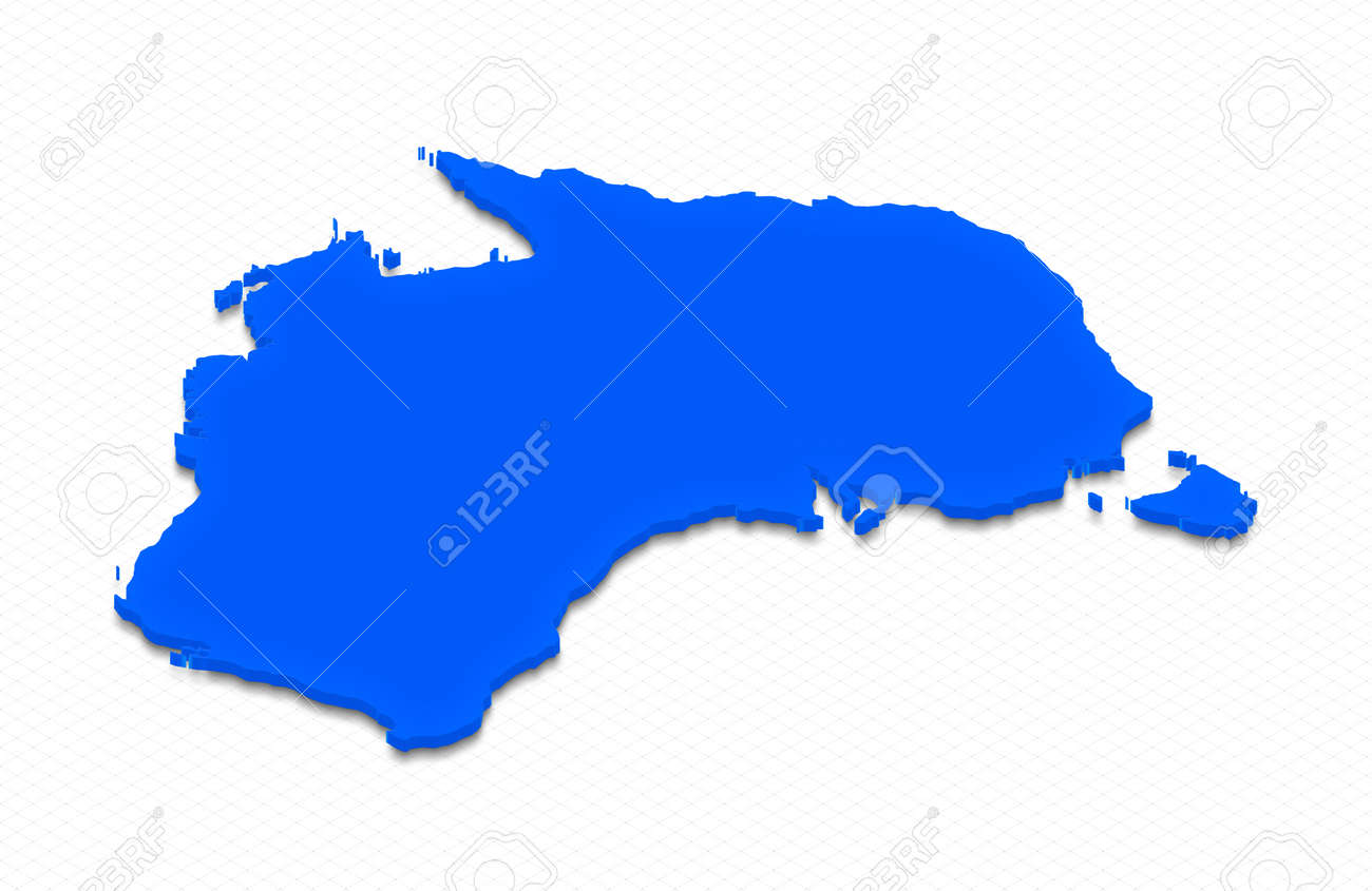 Illustration Of A Blue Ground Map Of Australia On Grid Background     Illustration   Illustration of a blue ground map of Australia on grid  background  Right 3D isometric projection