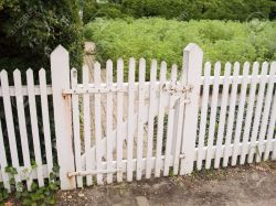 Small Of Picket Fence Gate