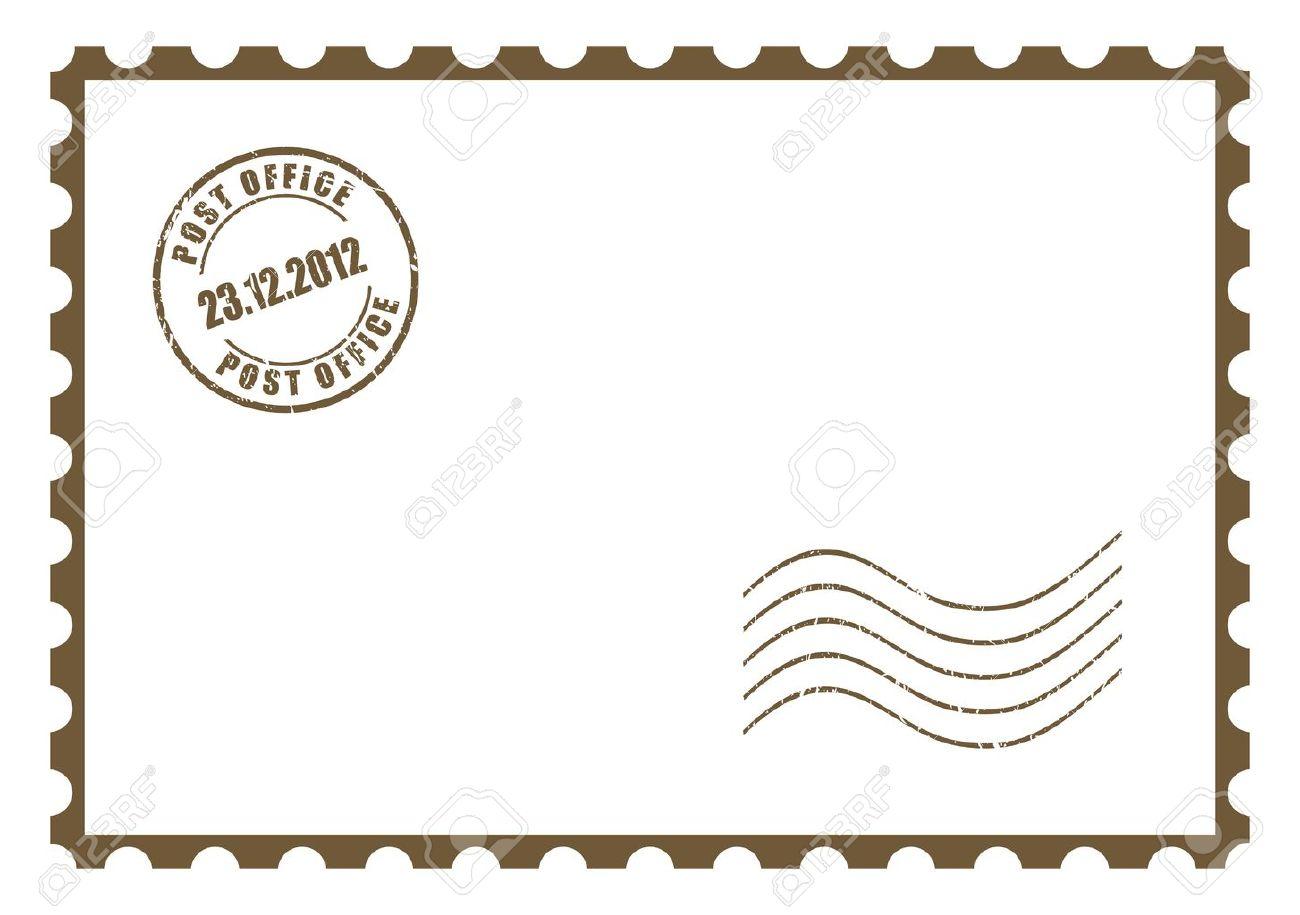 Marvelous Blank Postcard Stock Vector Blank Postcard Royalty Free Save Dates Stock Postcard Stamps Postcard Stamps inspiration Post Card Stamps