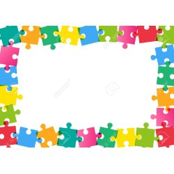Stylish Colorful Puzzle Frame On Background Stock Vector Colorful Puzzle Frame On Background Royalty Free Cliparts How To Frame A Jigsaw Puzzle Uk How To Frame A Puzzle Glue