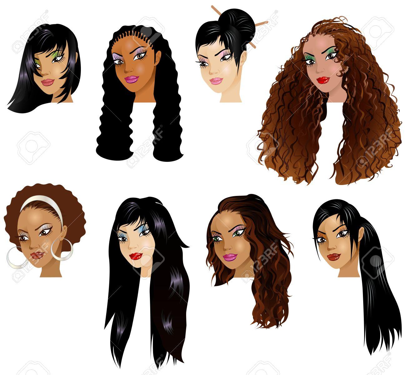 Assorted Haired Vector Illustration Of Hispanic Women Skin Tones Or Hair Styles Illustration Vector Illustration Of Hispanic Women Asian Skin Tone Palette Asian Skin Tone Hex dpreview Asian Skin Tone
