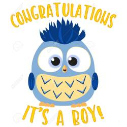 Exciting Congratulations It S A Boy Colorful Baby Boy Birthdaymed Flat Vector Congratulations It S A Boy Colorful Baby Boy Owl Congratulations Baby Boy Ny Congratulations Baby Boy S
