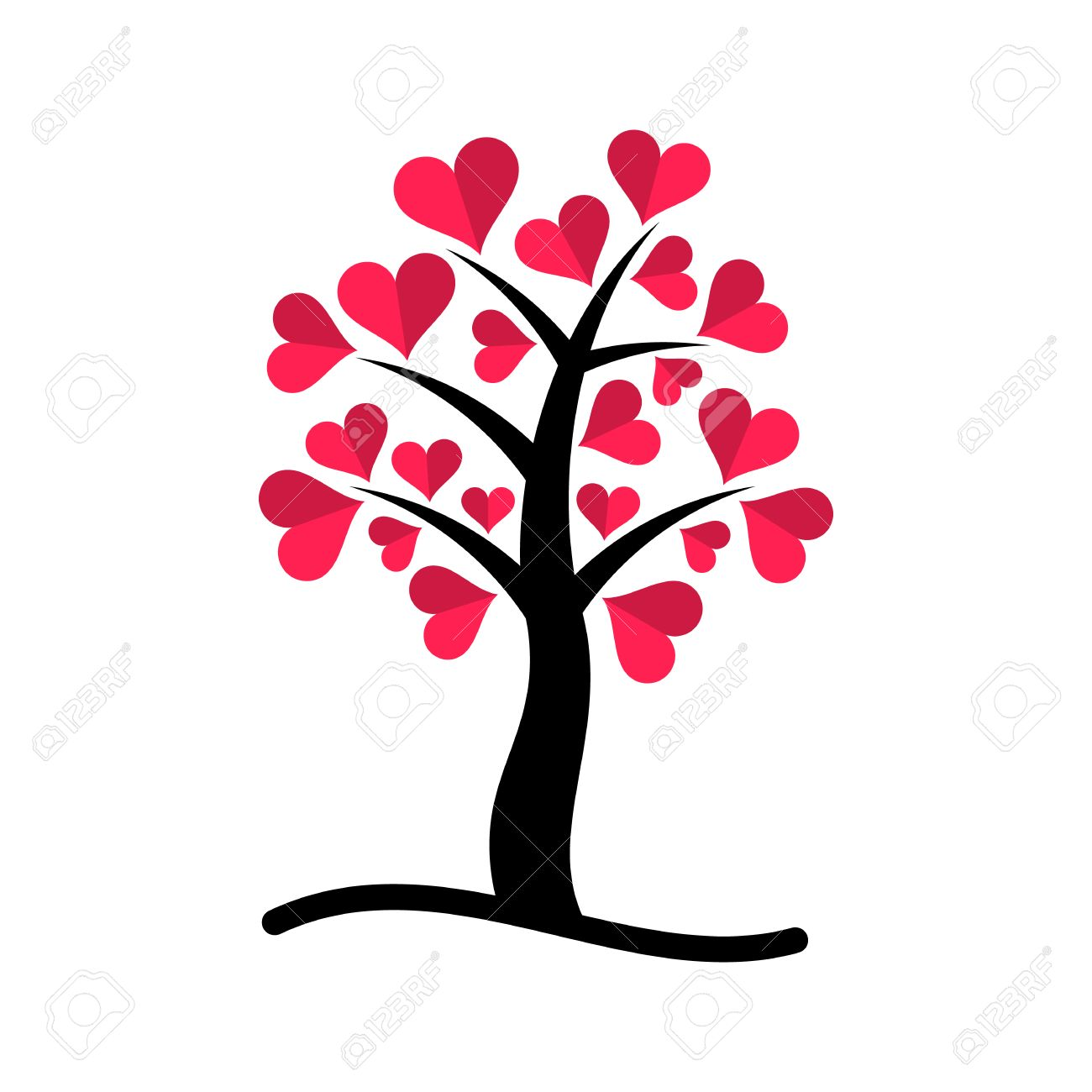 Fullsize Of Tree With Heart Shaped Leaves
