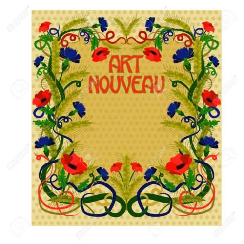 Medium Of Art Nouveau Wallpaper