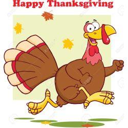 Trendy Turkey Bird Running Illustration Isolated On Stock Vector Ny Happy Thanksgiving Clip Art Ny Happy Thanksgiving Day S 23840189 Happy Thanksgiving Greeting