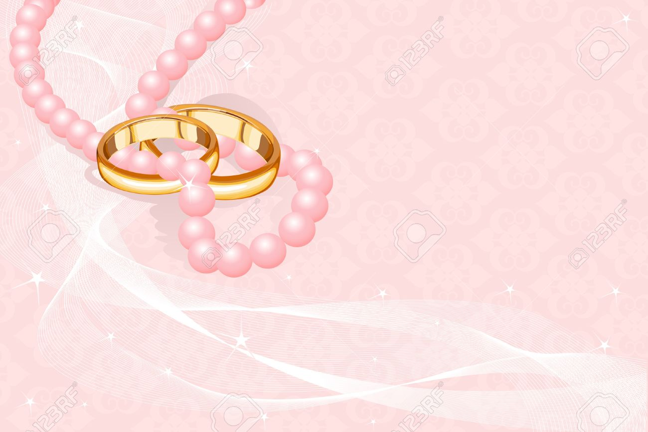 photo wedding rings on the pink background pink wedding rings Vector Wedding rings on the pink background
