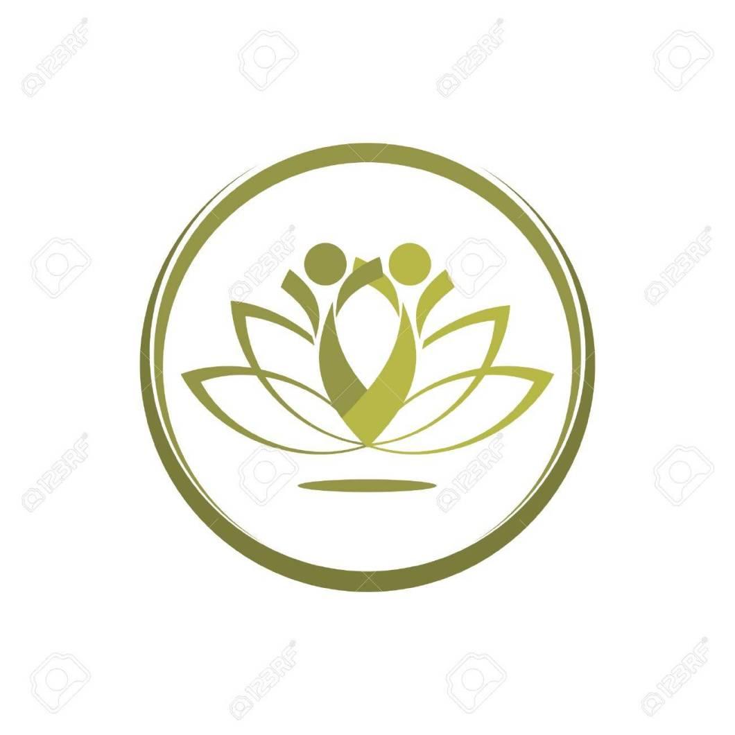 Yoga lotus symbol spotgymyoga two people practicing yoga lotus flower symbol royalty free izmirmasajfo