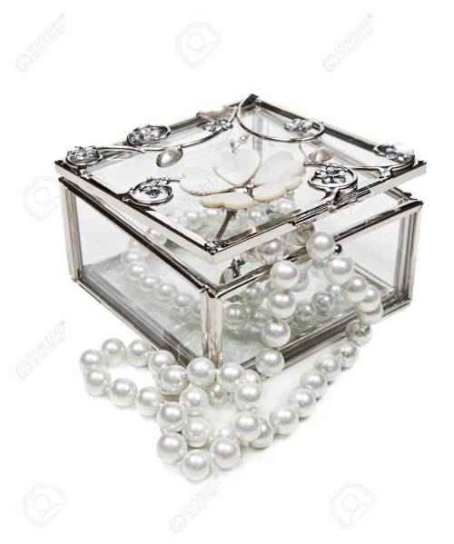 Medium Of Glass Jewelry Box