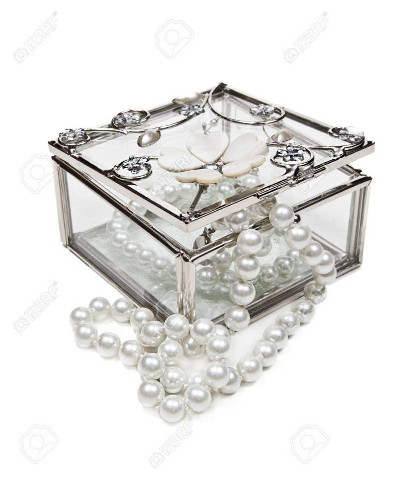 Large Of Glass Jewelry Box