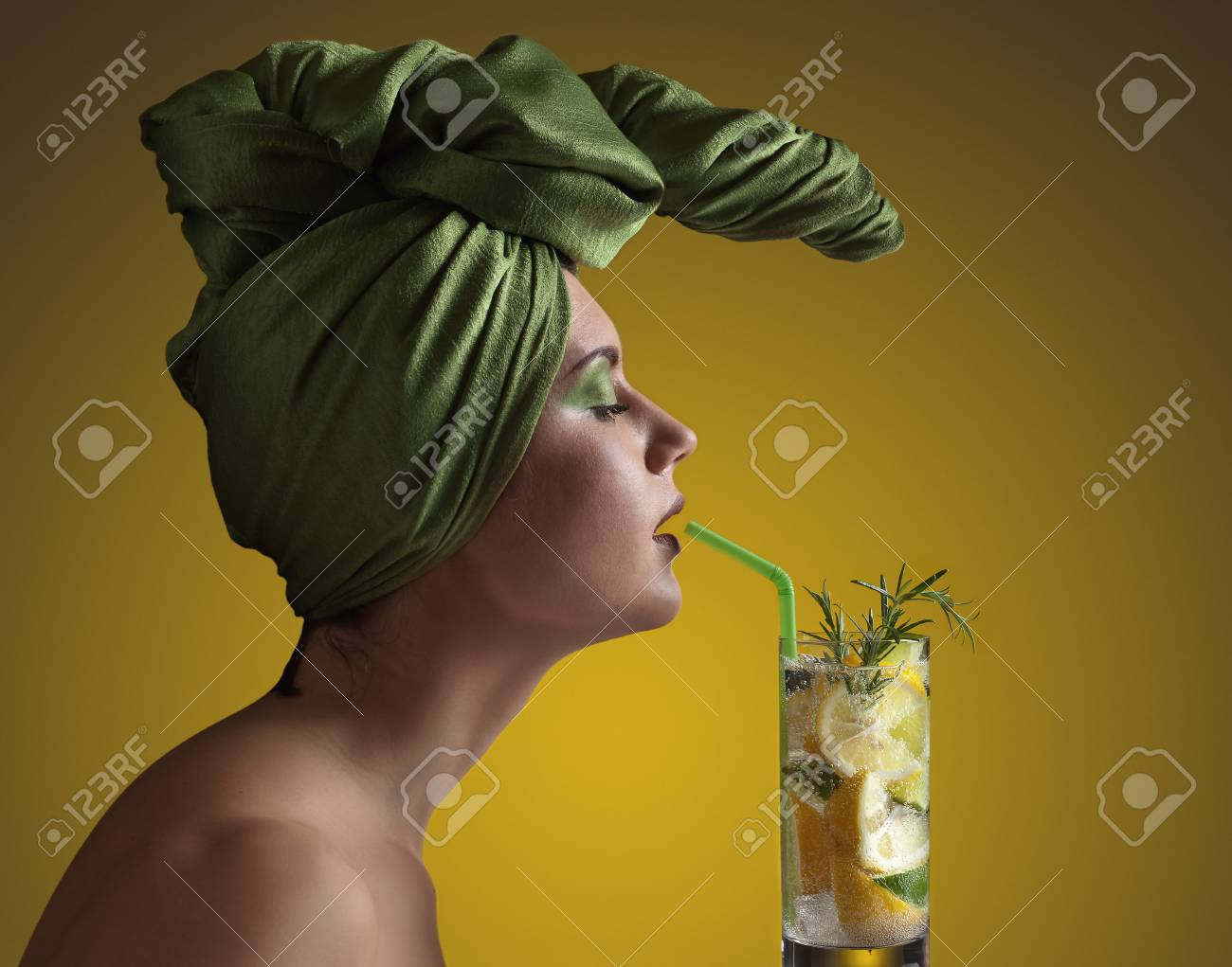 Grande Stock Photo Young Woman A Cocktail Young Woman A Cocktail Stock Photo Art Dco Green Turban Green Turban Meaning A Green Turban A Green Turban houzz 01 The Green Turban