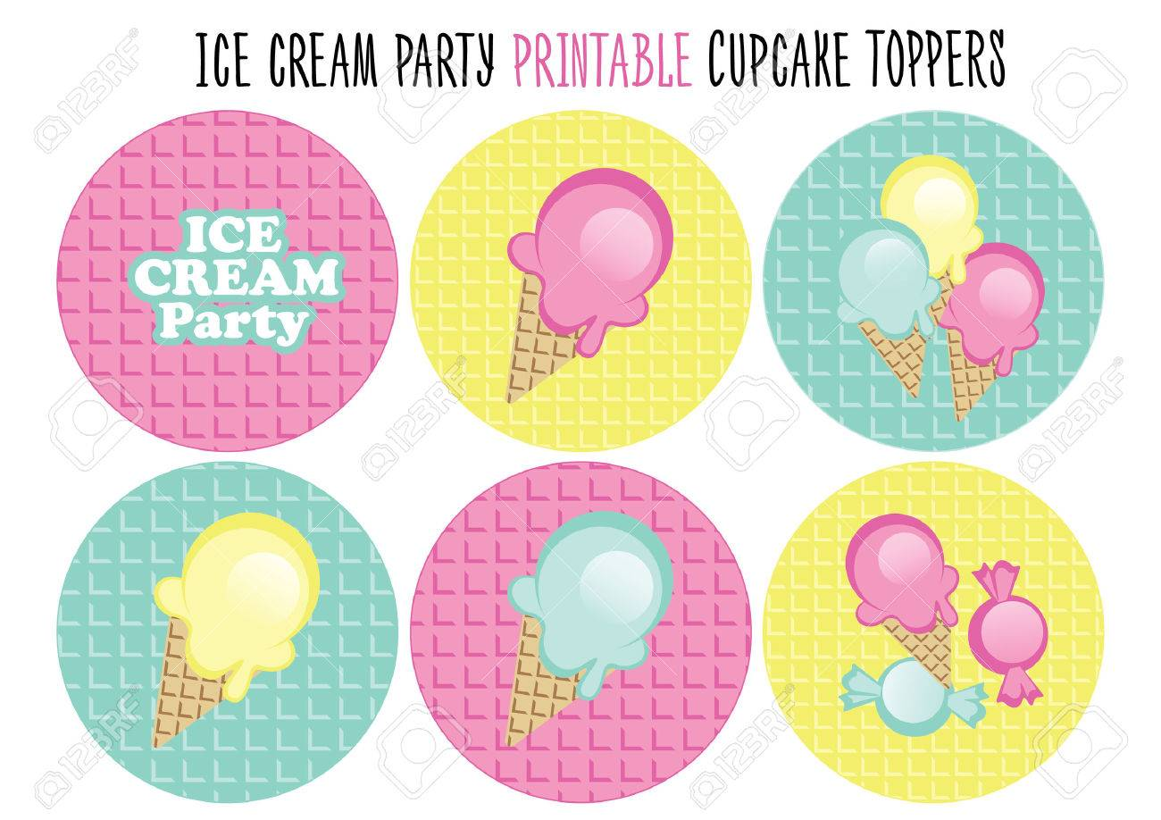 Winsome Cupcake Pers Ice Cream Party Stock Vector Cupcake Pers Ice Cream Party Royalty Free Ice Cream Party Invitations Ice Cream Party Me baby Ice Cream Party