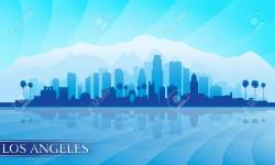 Small Of Los Angeles Skyline Silhouette