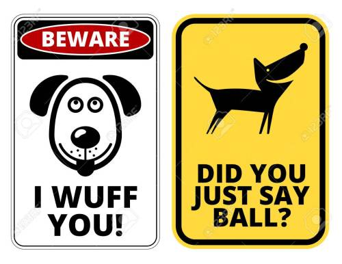 Medium Of Beware Of Dog Signs