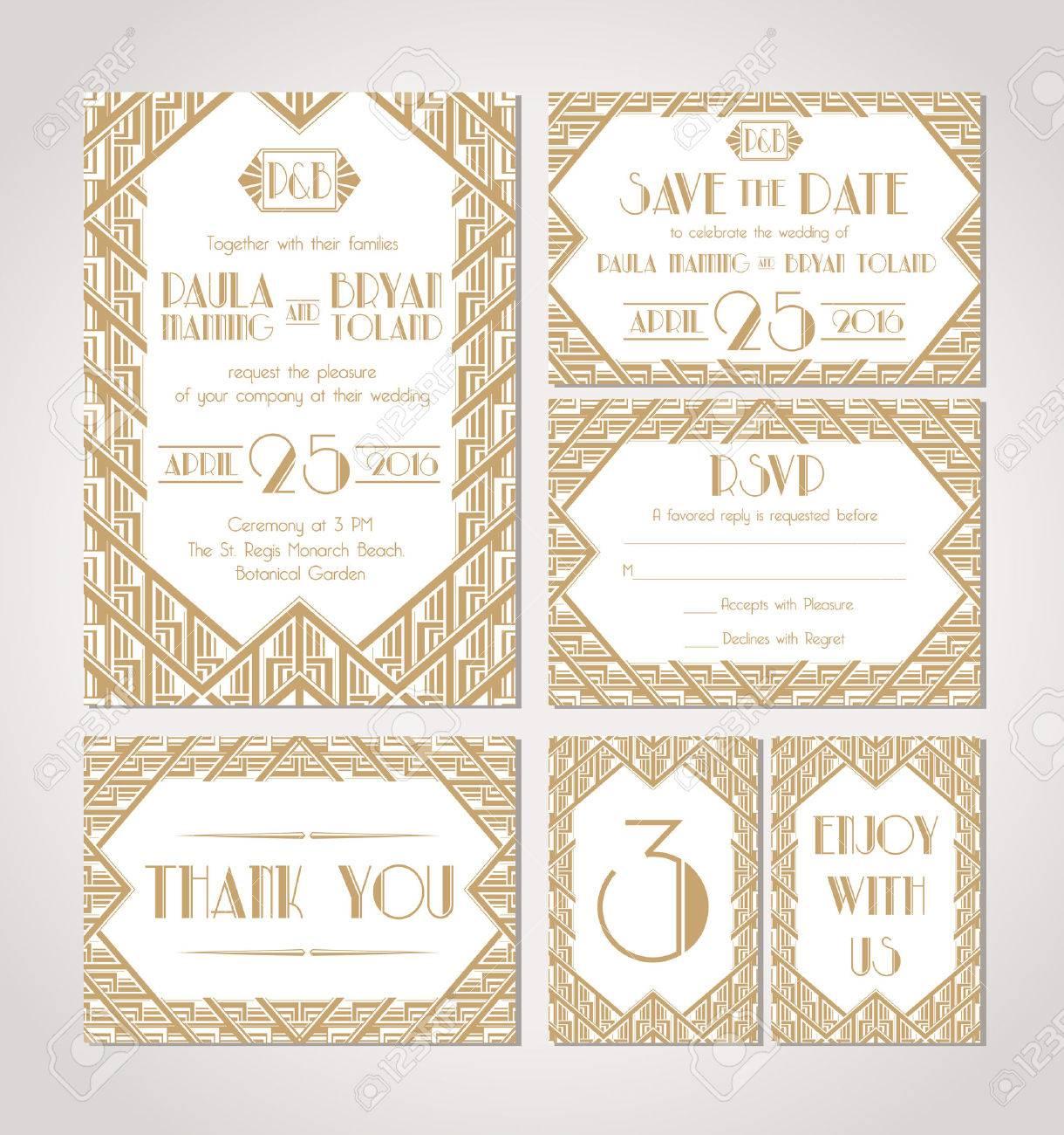 great gatsby gatsby wedding invitations With