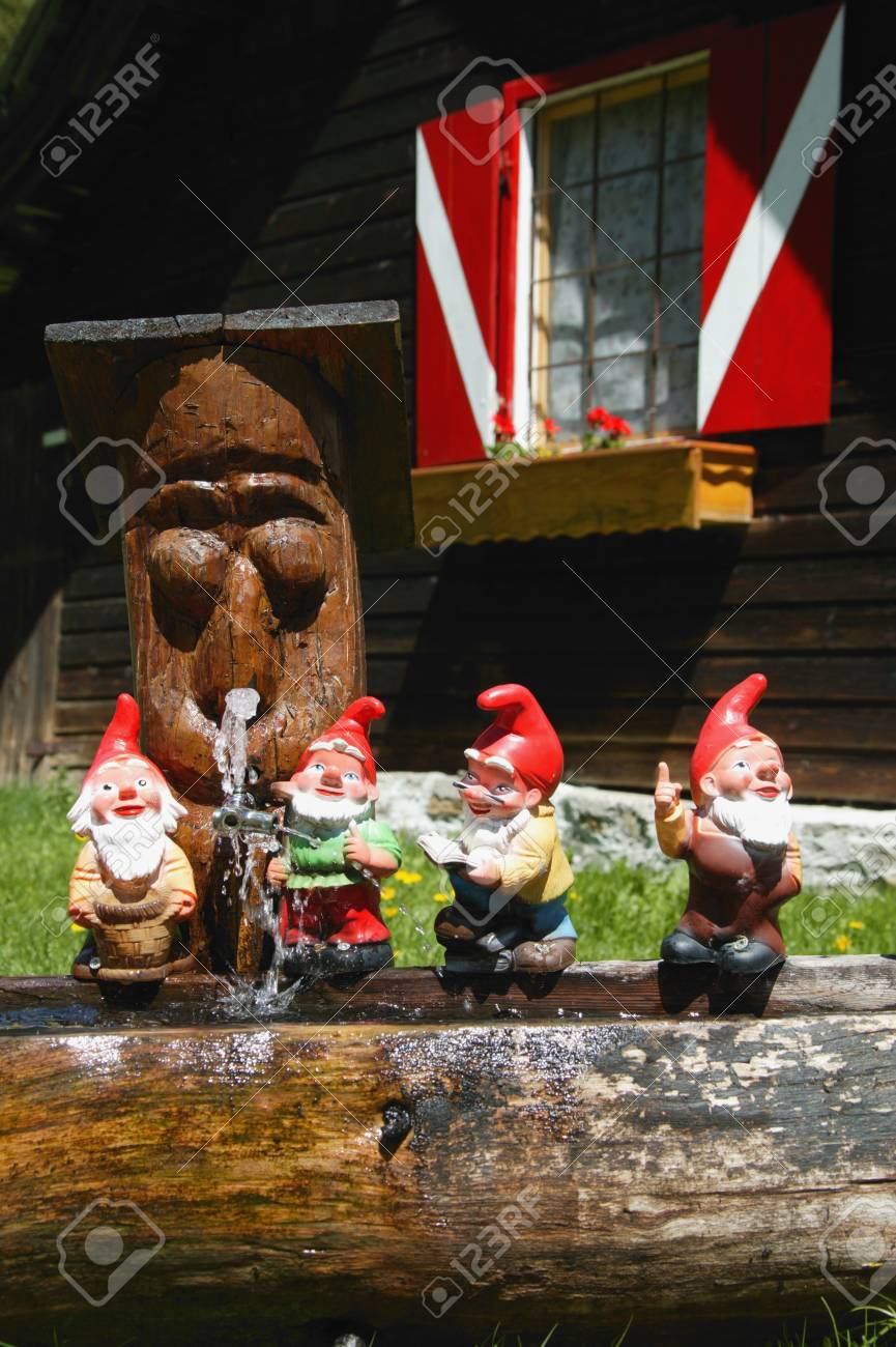 Cheery Miniature Garden Gnomes Lined Up On A Austria View Miniature Garden Gnomes Lined Up On A Stock Miniature Garden Gnomes Miniature Garden Gnomes Kits Stock Photo View garden Miniature Garden Gnomes