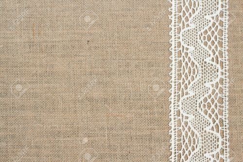 Medium Of Burlap And Lace Background