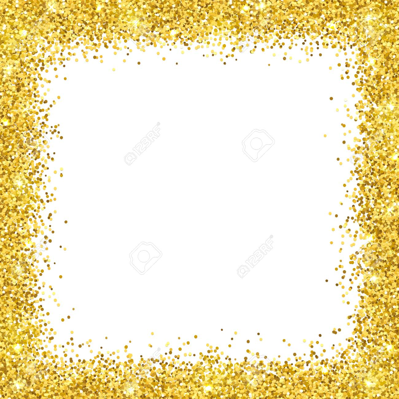 Fullsize Of Gold Glitter Border