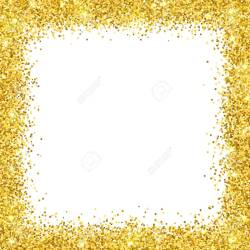 Small Of Gold Glitter Border