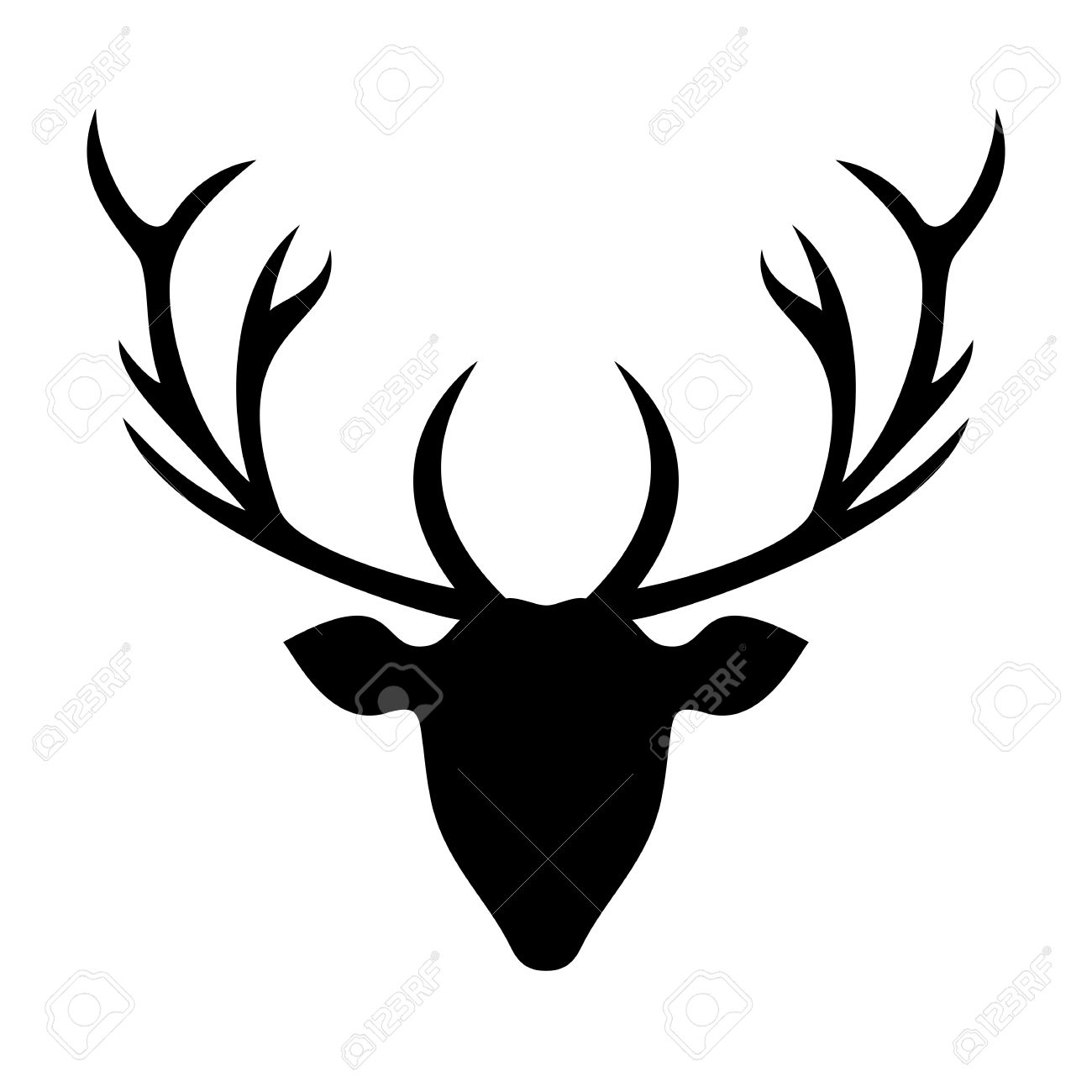 picture regarding Printable Deer Head Silhouette referred to as Wonderful Deer Silhouette Stencil Drawing Deer Brain Silhouette