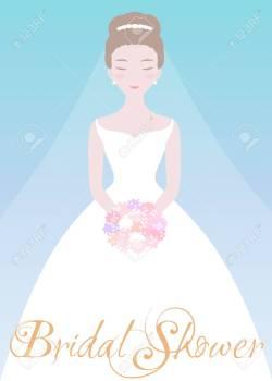 Showy Bride A Flower Bridal Shower Invitation Weddingfashion Stock Bride A Flower Bridal Shower Invitation Template Bridal Shower Invitation Templates Download Bridal Shower Invitation Templates Print