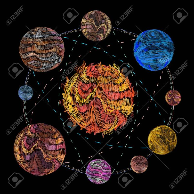 Large Of Solar System Art