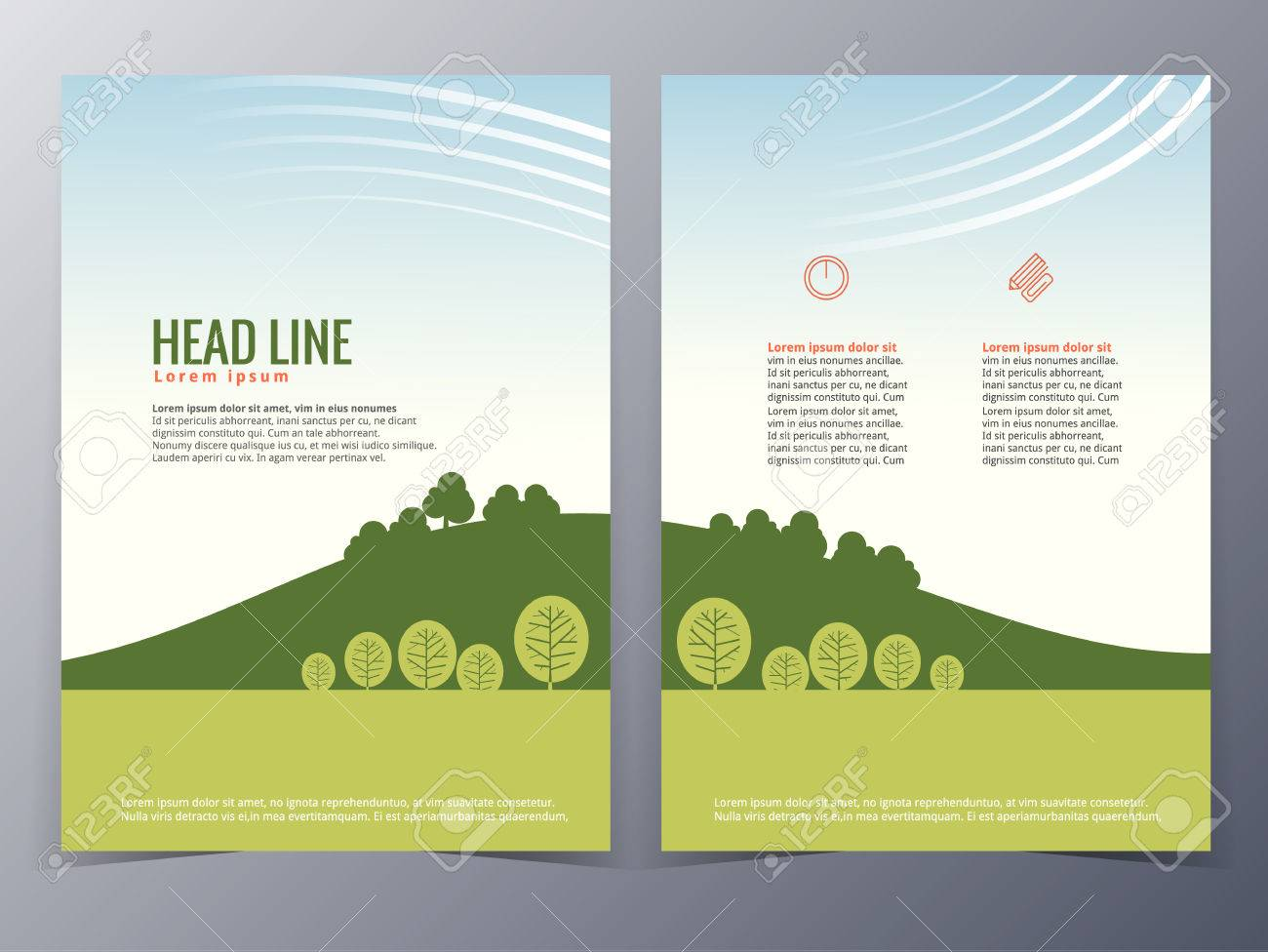 Business And Nature Brochure Design Template Vector In A4 Size     business and nature brochure design template vector in A4 size for use as  company annual report
