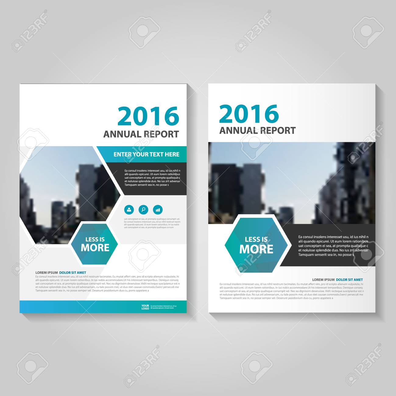 Hexagon Blue Annual Report Leaflet Brochure Template Design     Hexagon Blue annual report Leaflet Brochure template design  book cover layout  design  Abstract Hexagon