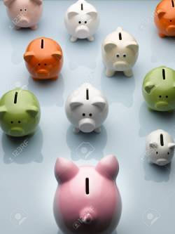 Small Of Large Piggy Bank