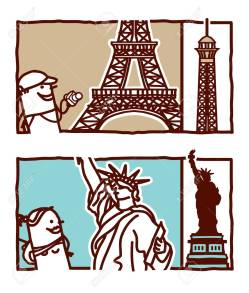 Small Of Eiffel Tower Cartoon