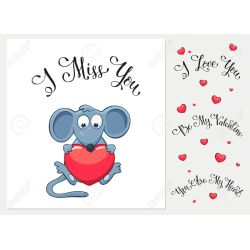 Engaging Heart I Love You I Miss You Be My Valentine You Are My Heart Ny Greeting Card Miss You Ny Messages Miss You Ny Text 51706165 Cartoon Mouse
